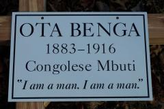 Ota Benga's grave marker at White Rock Cemetery, Lynchburg, VA